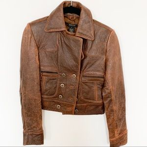 BCBG collection leather jacket